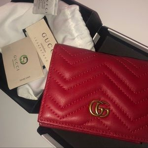 GG Gucci Wallet Red Monogram